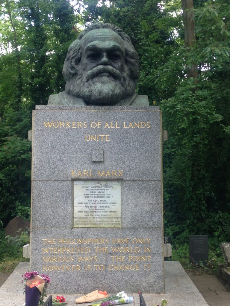 Karl Marx statue- London off the beaten path