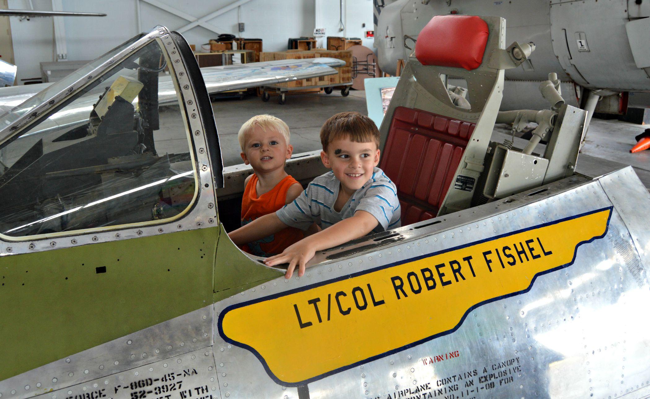 kids in cockpit
