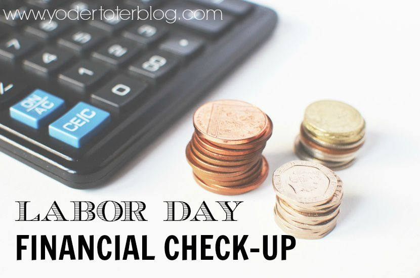 labor day financial check-up - Focus on an end of year financial outlook and budgeting for the next year.