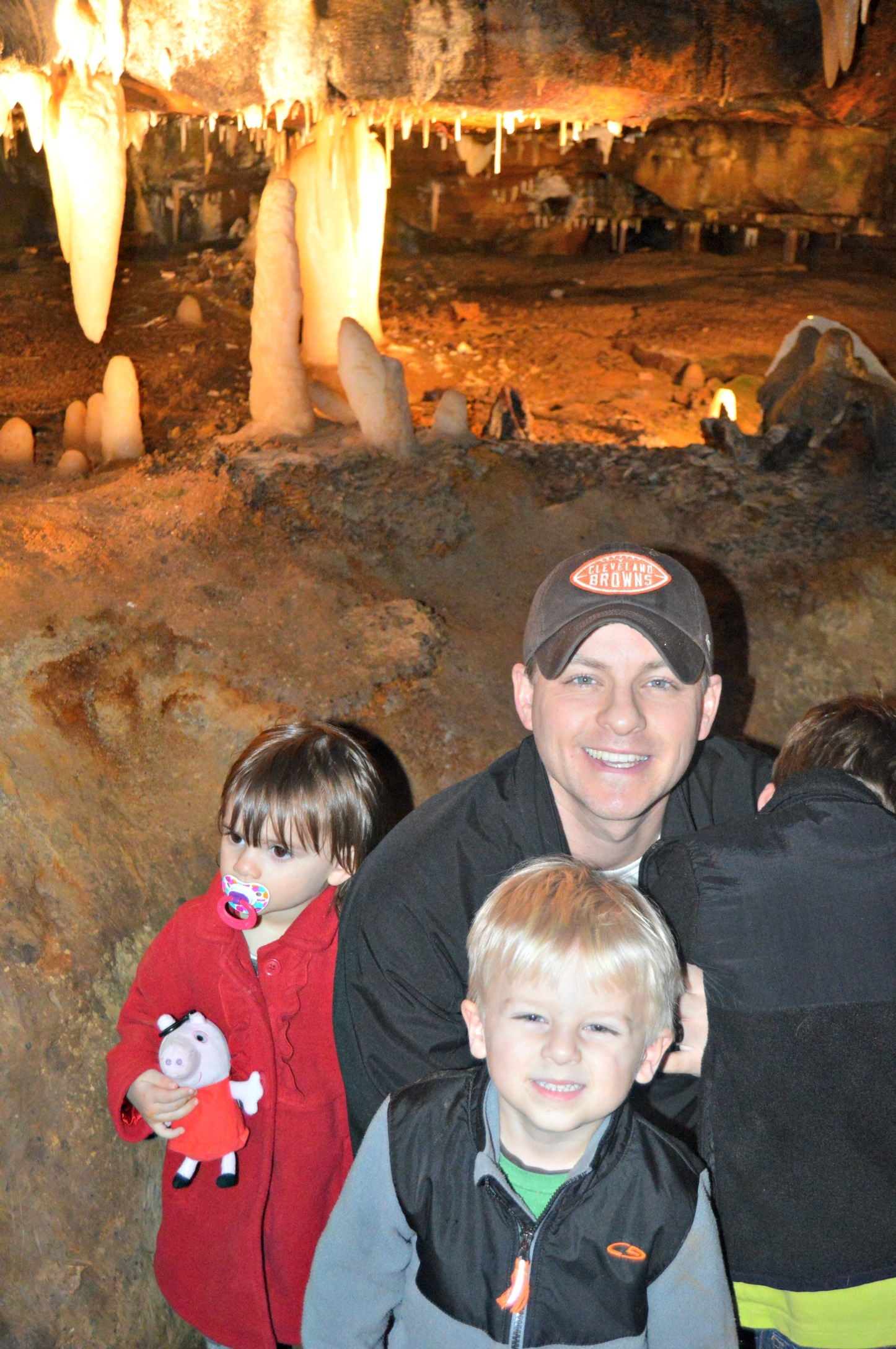 family in the cavern