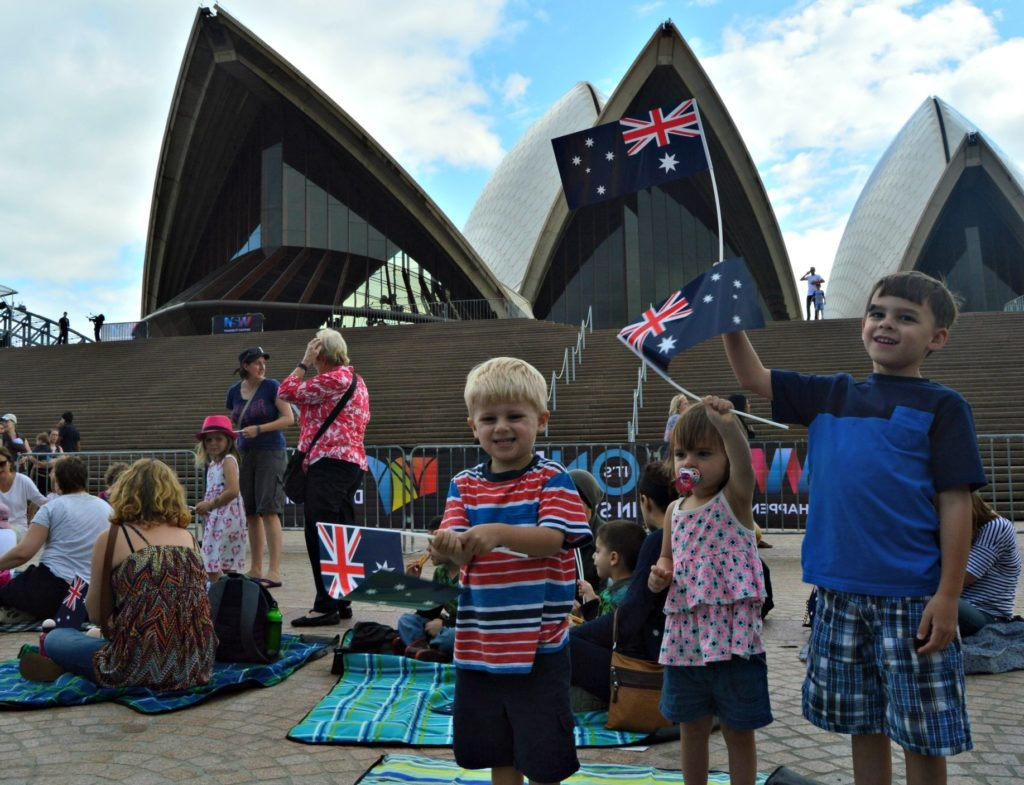 Australia Day in Sydney with kids