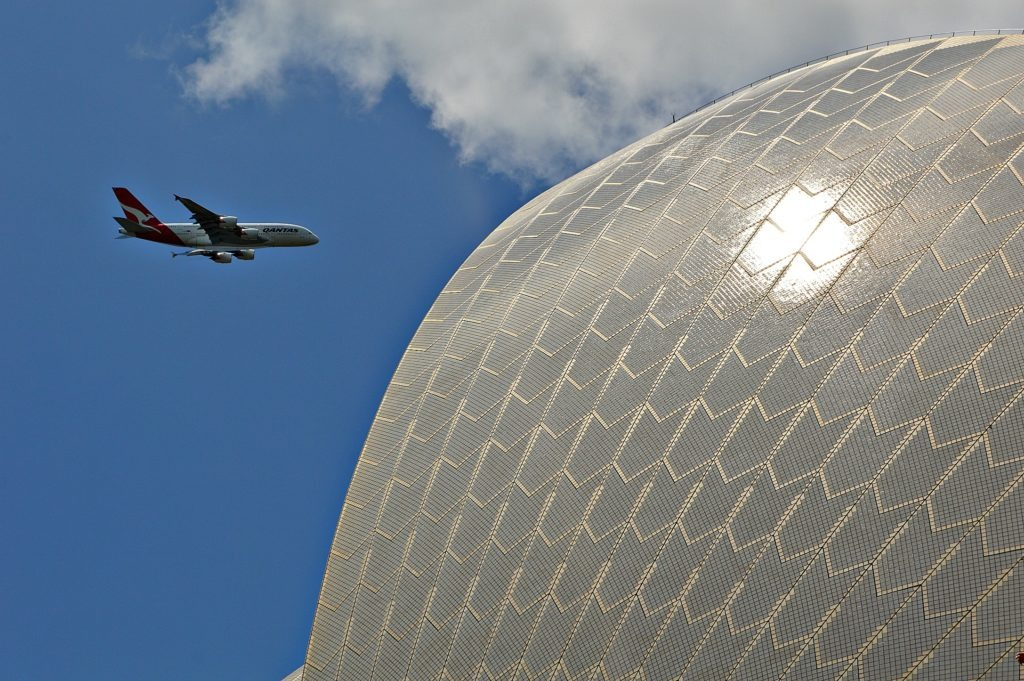 A380 flyover- Australia Day in Sydney