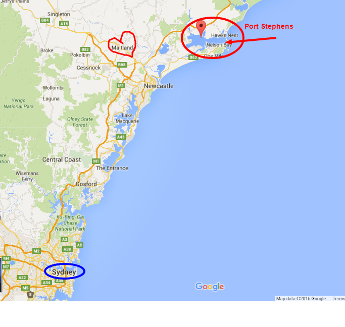 Port Stephens Google Maps