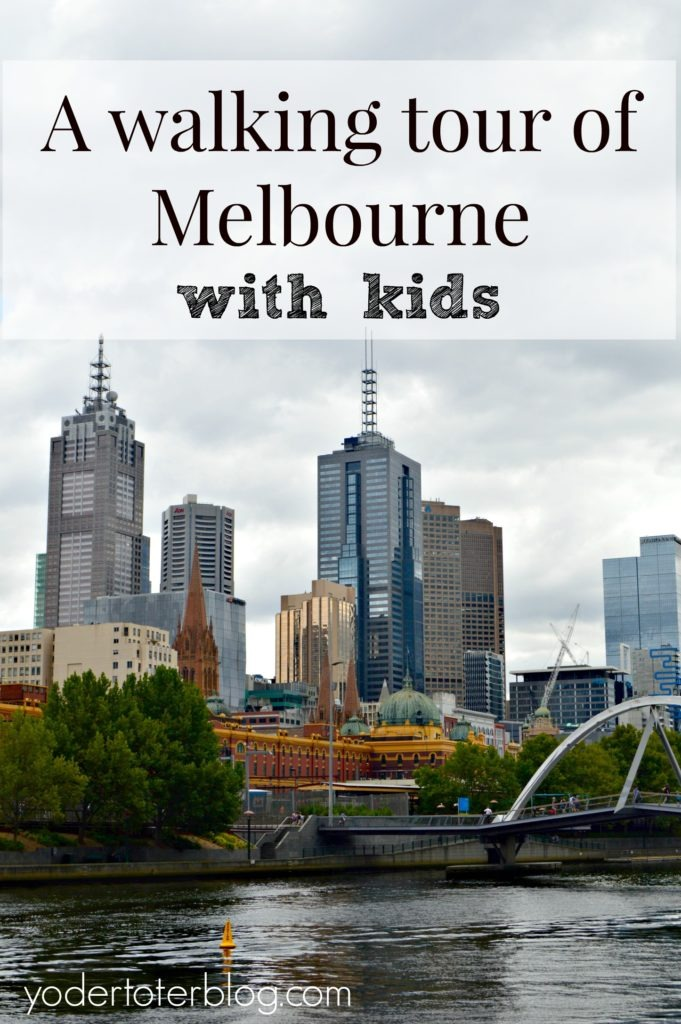 A walking tour of Melbourne with kids - Visiting Melbourne as a family. Here's a free thing to do in Melbourne - take a walking tour with your kids!