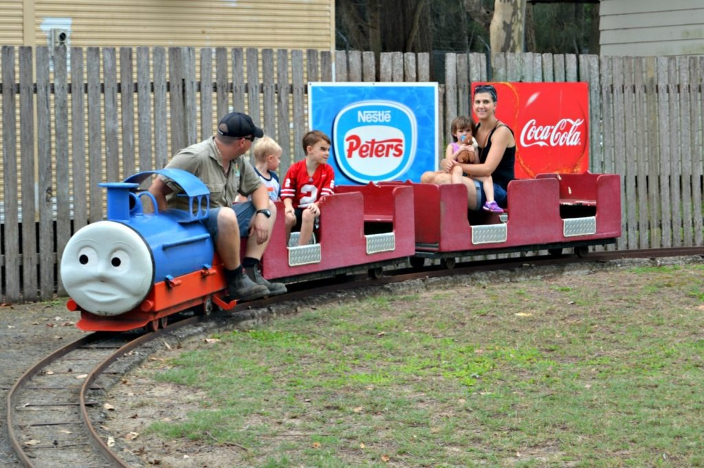 Family- friendly Port Stephens- ride Thomas the Train at Oakvale Farm.