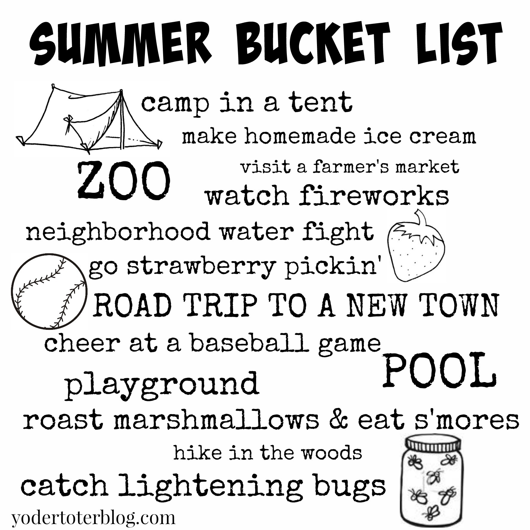 bucket list with logo