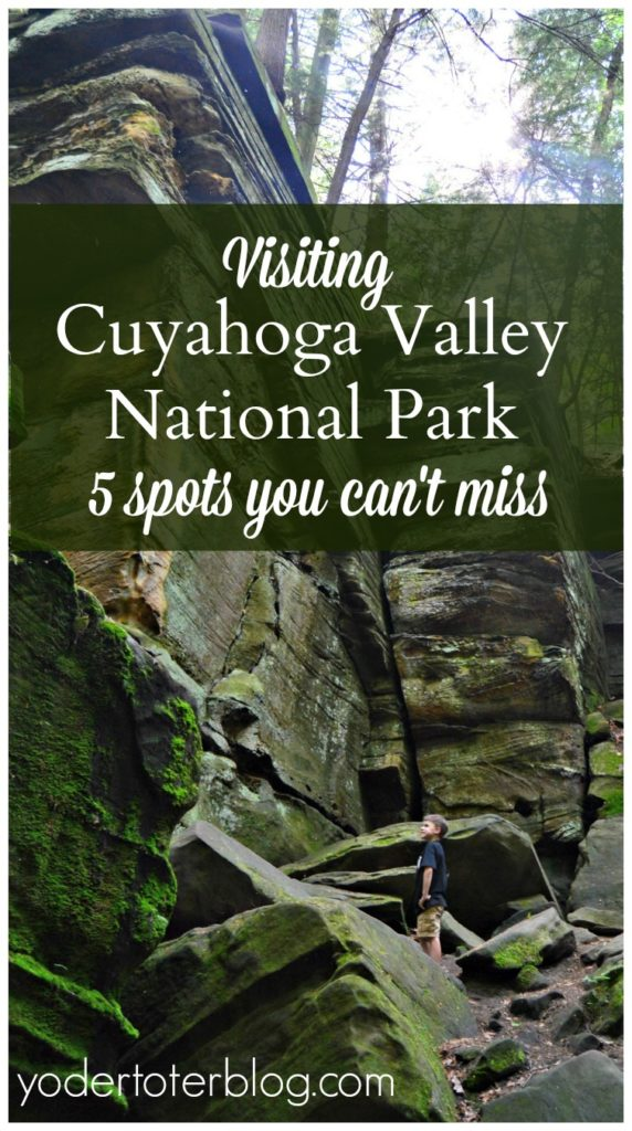 Cuyahoga Valley National Park in Ohio is full of surprises. Here are 5 spots you won't want to miss! Plus, this is Ohio's only National Park and it's free.