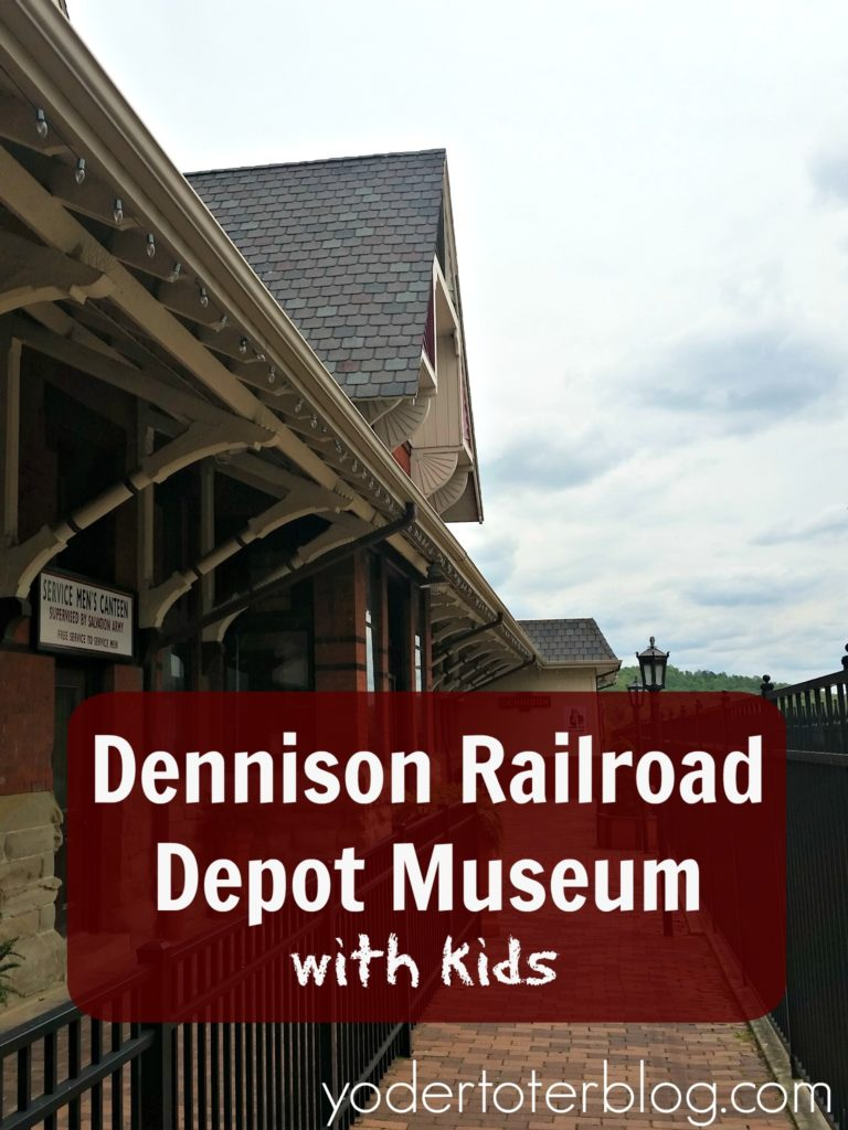 Visiting the Dennison Railroad Depot Museum with kids.  Learn all about what this museum is like.  The Dennison Railroad Depot Museum is an easy drive from Ohio's Amish Country!