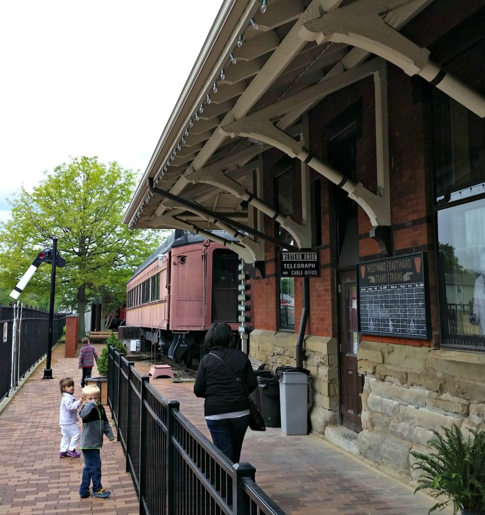 Dennison Railroad Depot Museum with kids