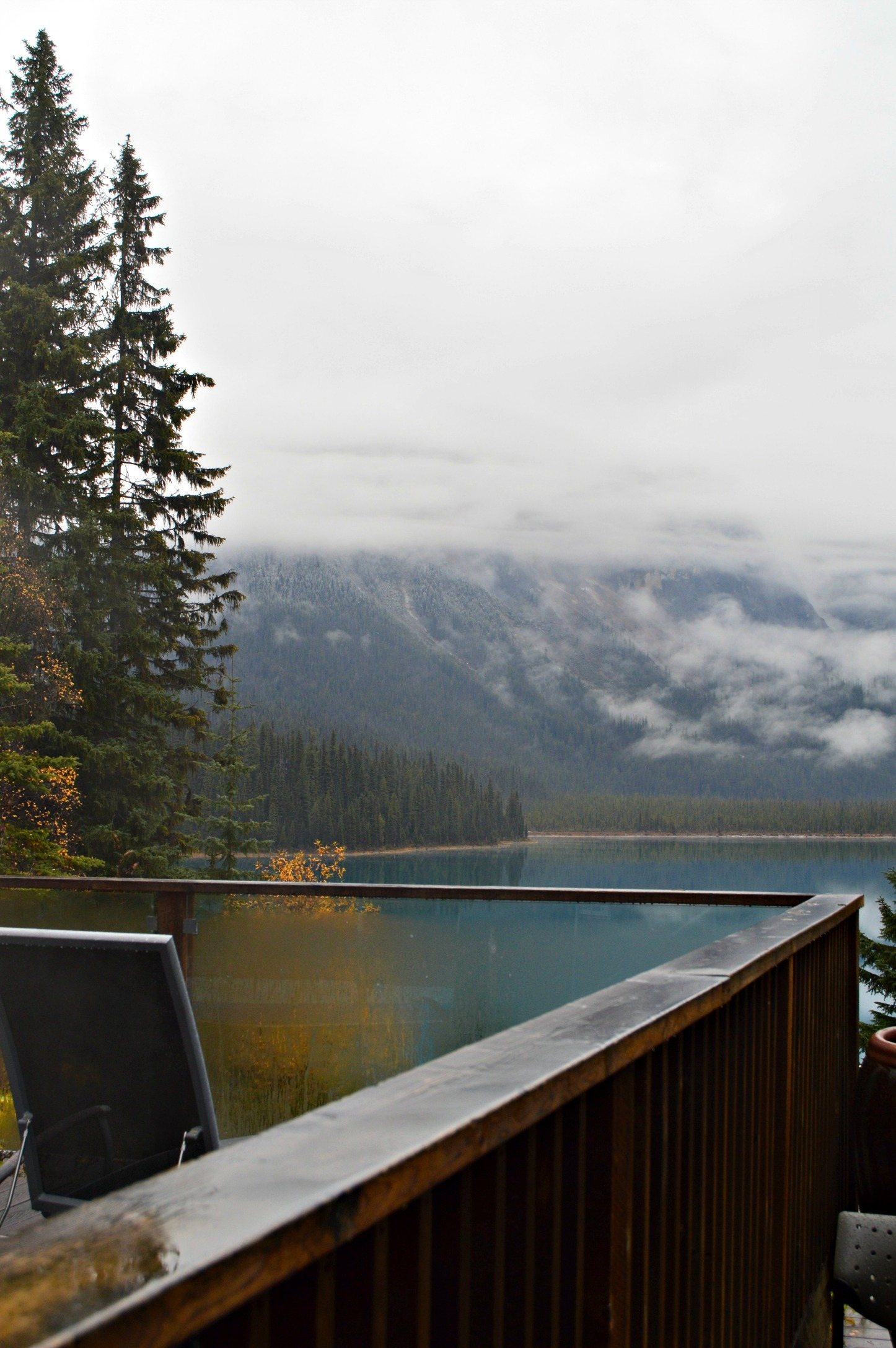 Emerald Lake Lodge- view from the hot tub