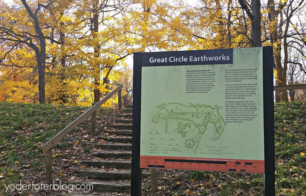 The Newark Earthworks are ancient mounds built by the Hopewell culture. This is the place to visit in Newark, Ohio.