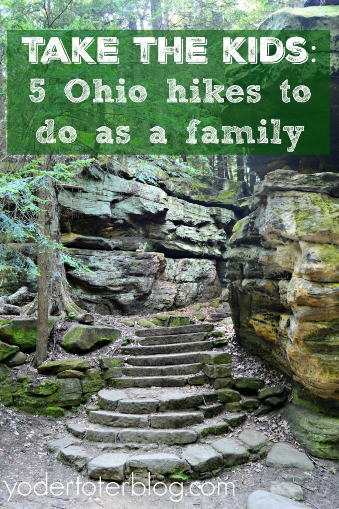 Take the kids- 5 Ohio hikes to do as a family. Yes, you can hike with kids and Ohio has many family- friendly trails to enjoy. Here's my tips to help, including some stroller-friendly trails.
