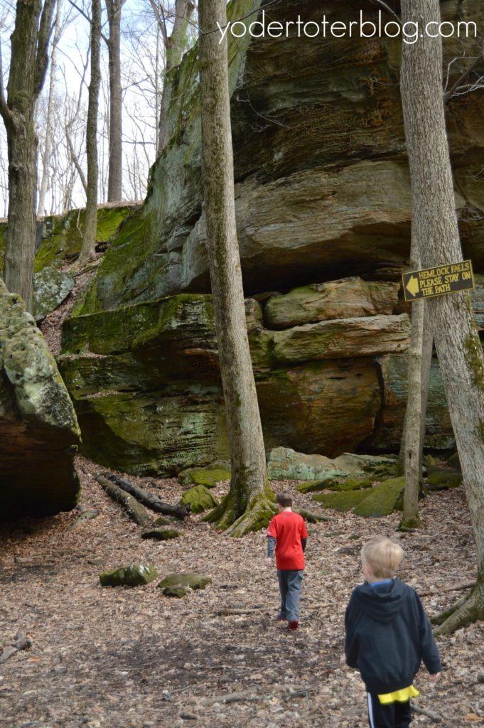 Hemlock Falls waterfall - Northeast Ohio- Ohio's hidden waterfall, you must get permission to hike here.