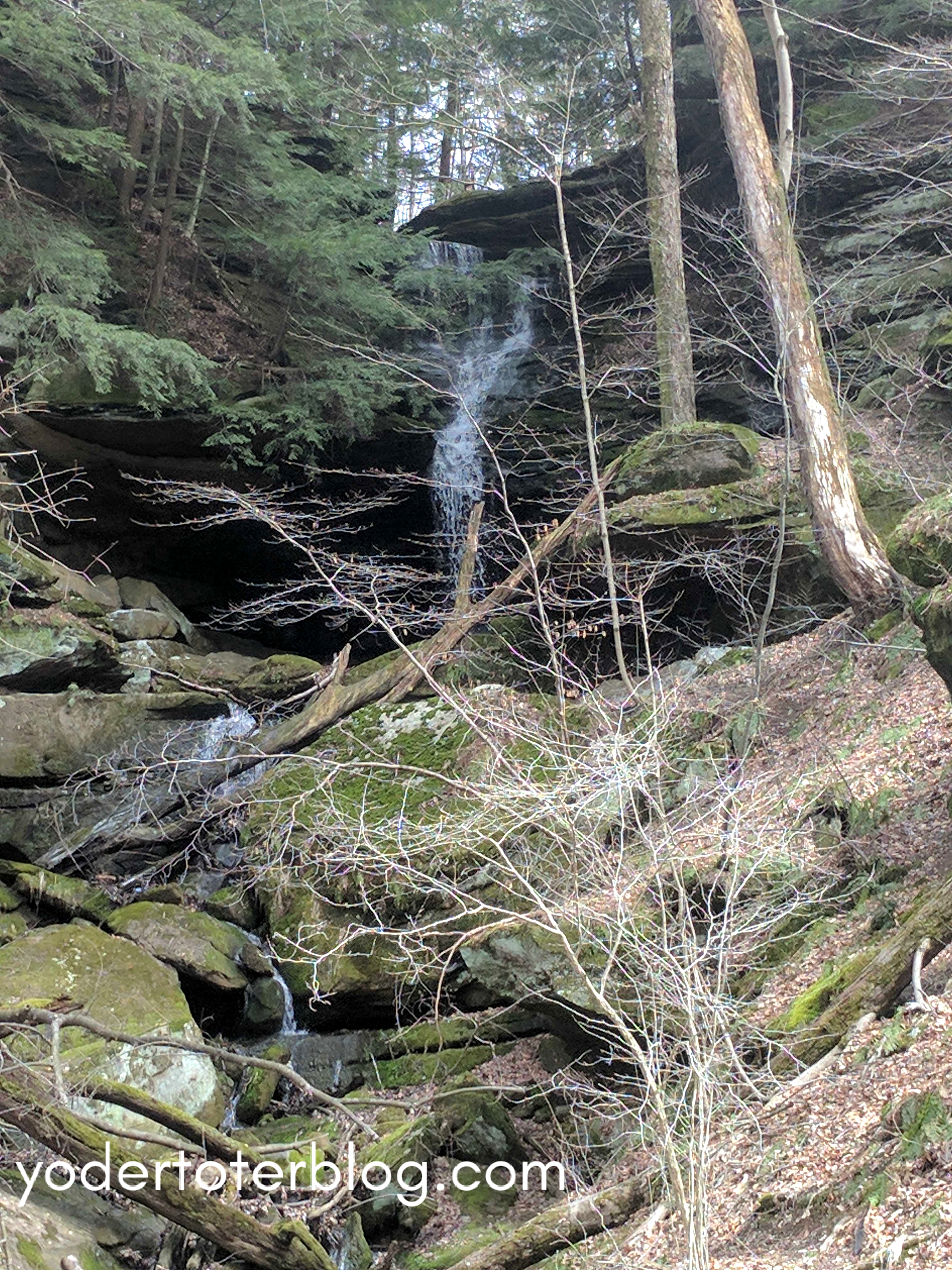 Hemlock Falls hidden waterfall Ohio