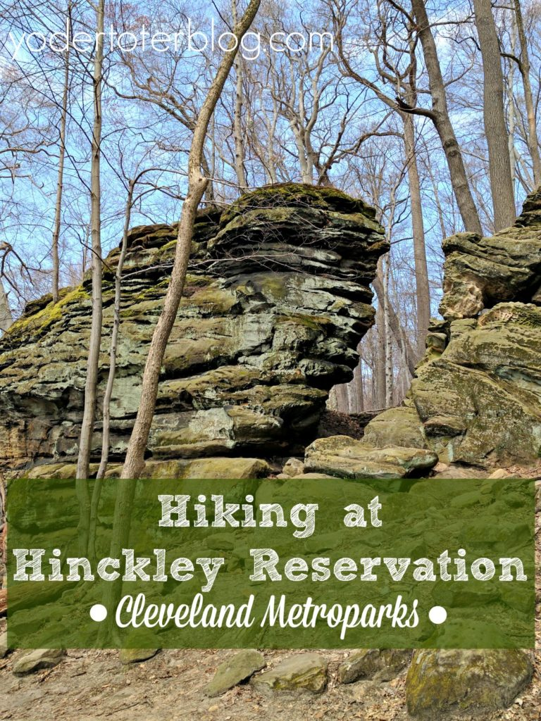 Hiking at Whipps Ledges within Hinckley Reservation. This is a beautiful trail within the Cleveland Metroparks and convenient for most of Northeast Ohio.
