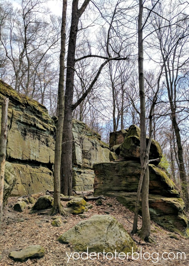 Hiking at Whipps Ledges in Hinckley Reservation - review of hiking with kids at Whipps Ledges