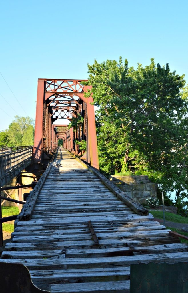 5 Reasons You must visit Marietta, Ohio- historic railroad bridge to Harmar Village