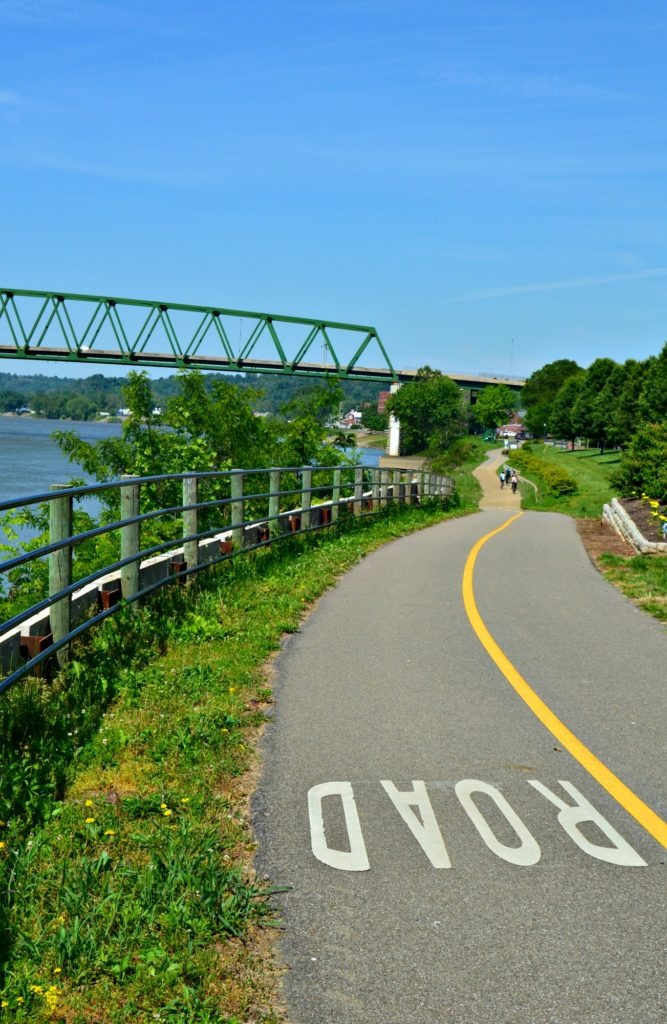 5 Reasons to visit Marietta, Ohio- A bike trail along the Ohio River