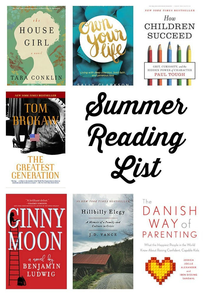 What I'm reading this summmer - summer reading list