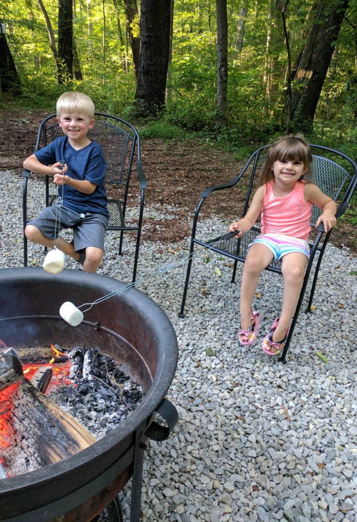 The Hocking Hills Caboose- Unique Ohio lodging - enjoy the fire pit for roasting marshmallows