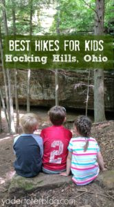 Best hikes for kids at Hocking Hills, Ohio. Mom of 3 shares her experience after multiple visits with her family.