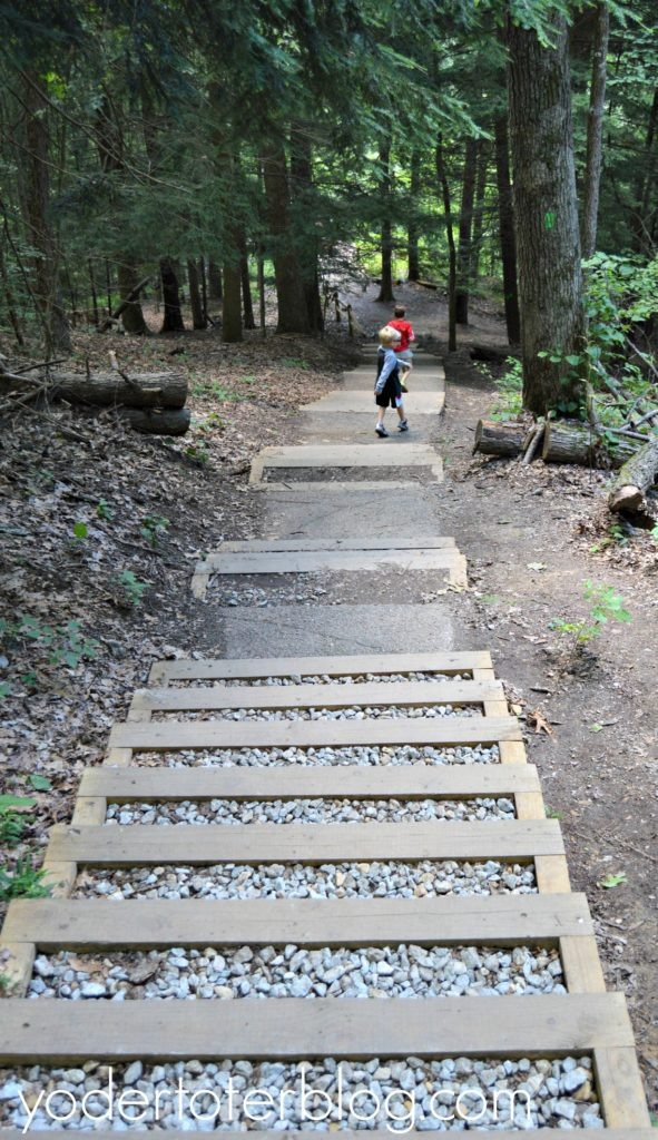 The Whispering Cave Trail at Hocking Hills with kids
