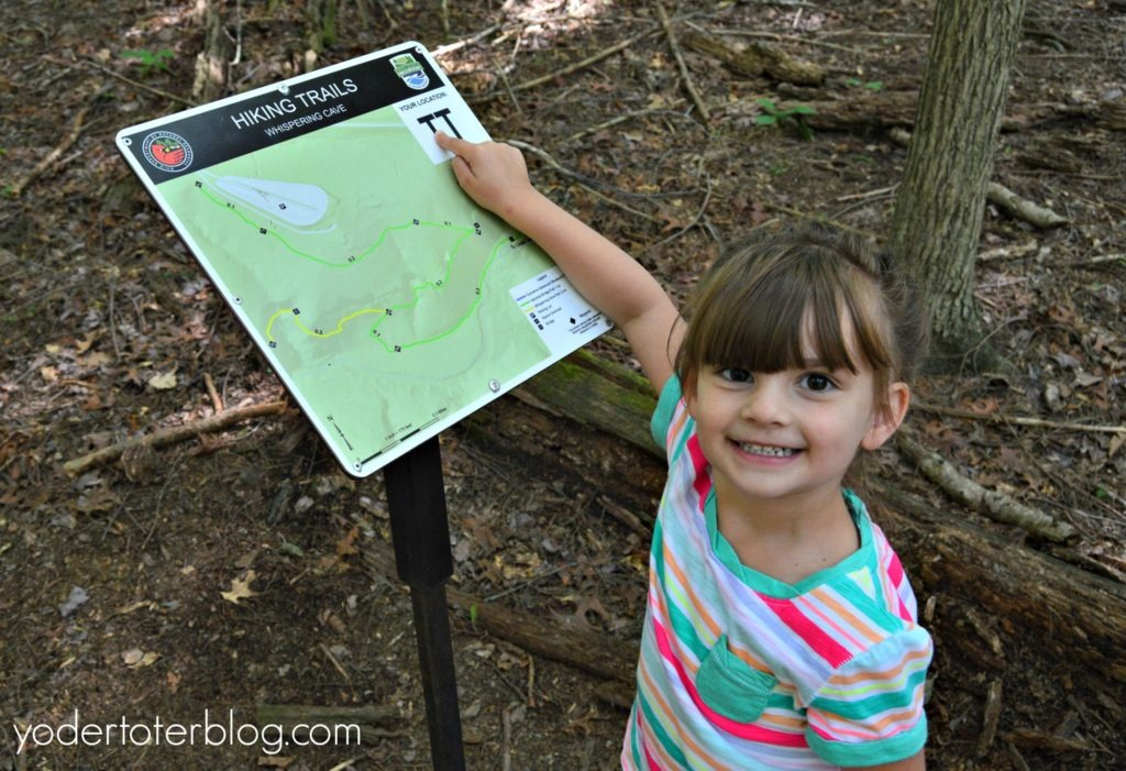 The Whispering Cave Trail at Hocking Hills- with kids