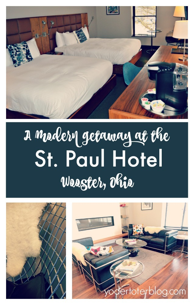 St. Paul Hotel- Wooster, Ohio- downtown boutique hotel- A modern hotel within walking distance of shops and restaurants.