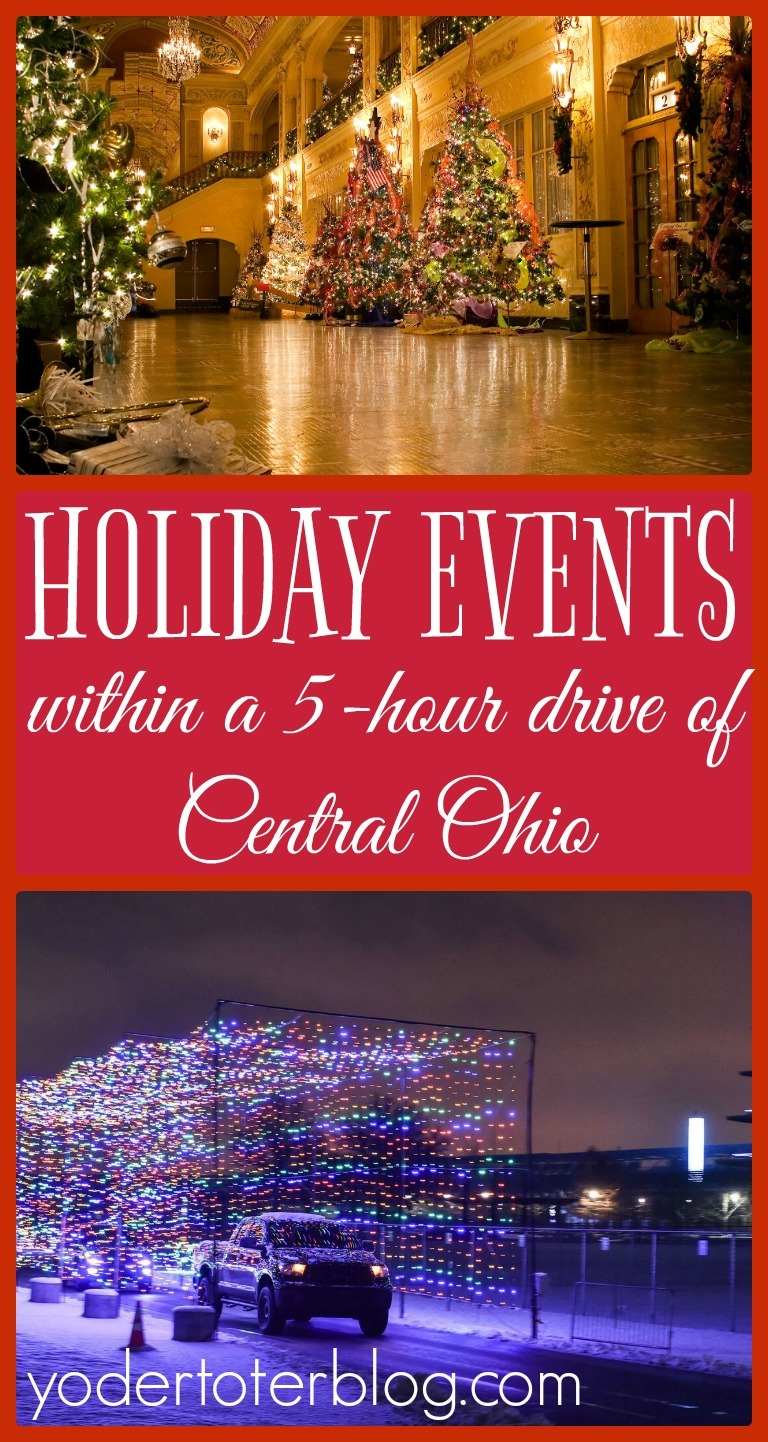 Holiday events within a 5-hour drive within Central Ohio. The best Christmas lights, experiences and happenings around Ohio, Indiana, Michigan, Pennsylvania, and West Virginia.