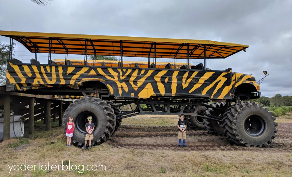 Monster Truck Tour at The Showcase of Citrus in Central Florida. A short drive from all of Florida's theme parks, add this one to your Florida Bucket List.