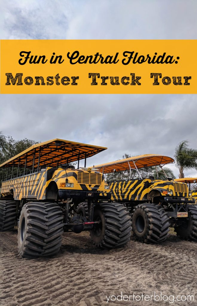 A Monster Truck Tour at the Showcase of Citrus in Central Florida is sure to please young and old. You'll learn about the citrus farm, view exotic animals, and even drive through a swamp!