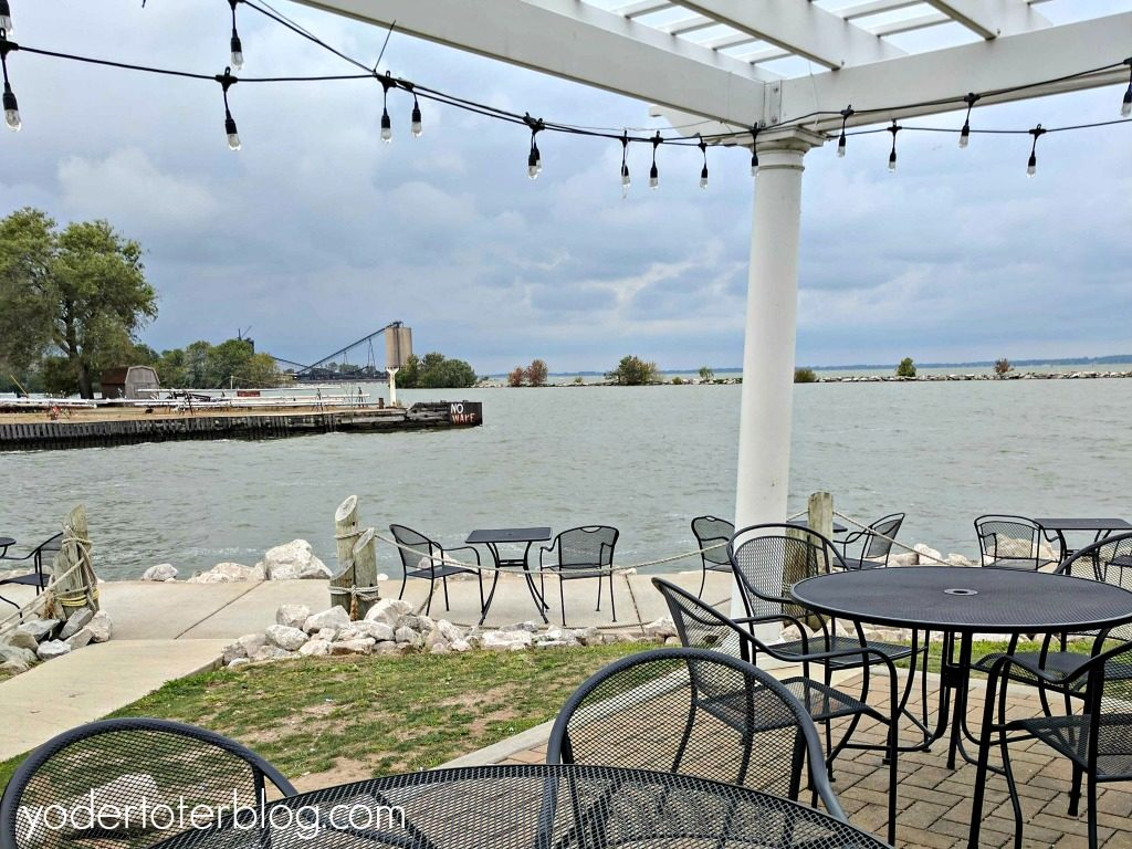 The view from Dockside Cafe. Those seats are just waiting for you.