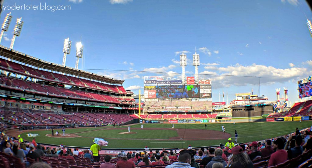 A summer weekend in Cincinnati - One of the most fun things to do in Cincinnati is visit a Reds game.