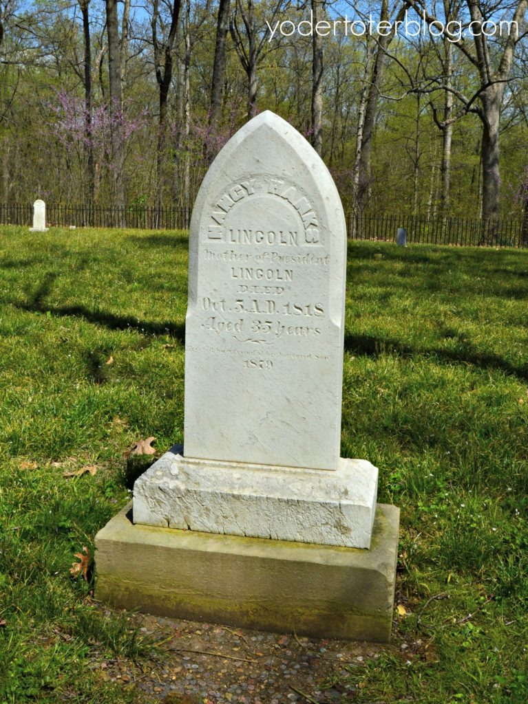 Lincoln Boyhood Home- Lincoln City, Indiana - the grave of Nancy Hanks Lincoln