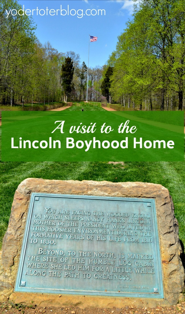 A visit to the Lincoln Boyhood Home - Lincoln City, Indiana - learn more about Abraham Lincoln at a museum & memorial, see the grave of his mother, and tour a replica 1820s homestead and working farm.