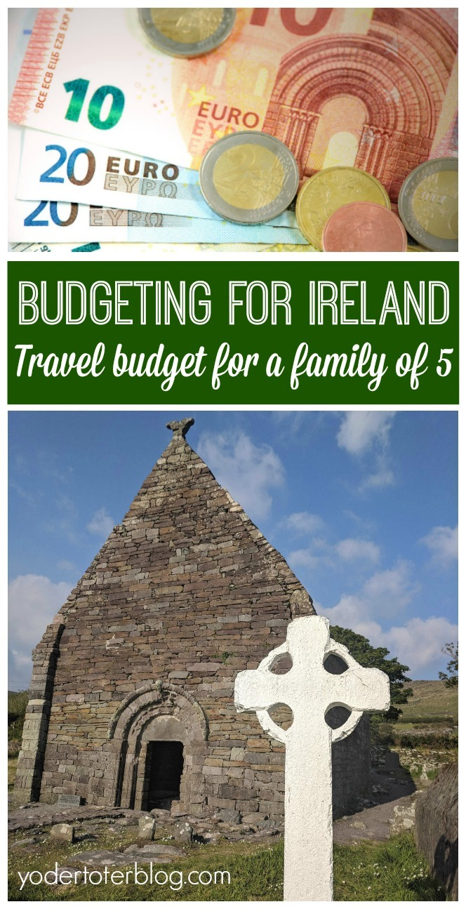 How much does it cost to travel in Ireland? Here's how our family of 5 traveled to Ireland on a budget. A breakdown of our Ireland road trip budget. Here's some thoughts on the cost to travel in Ireland and how much an average meal cost our family.