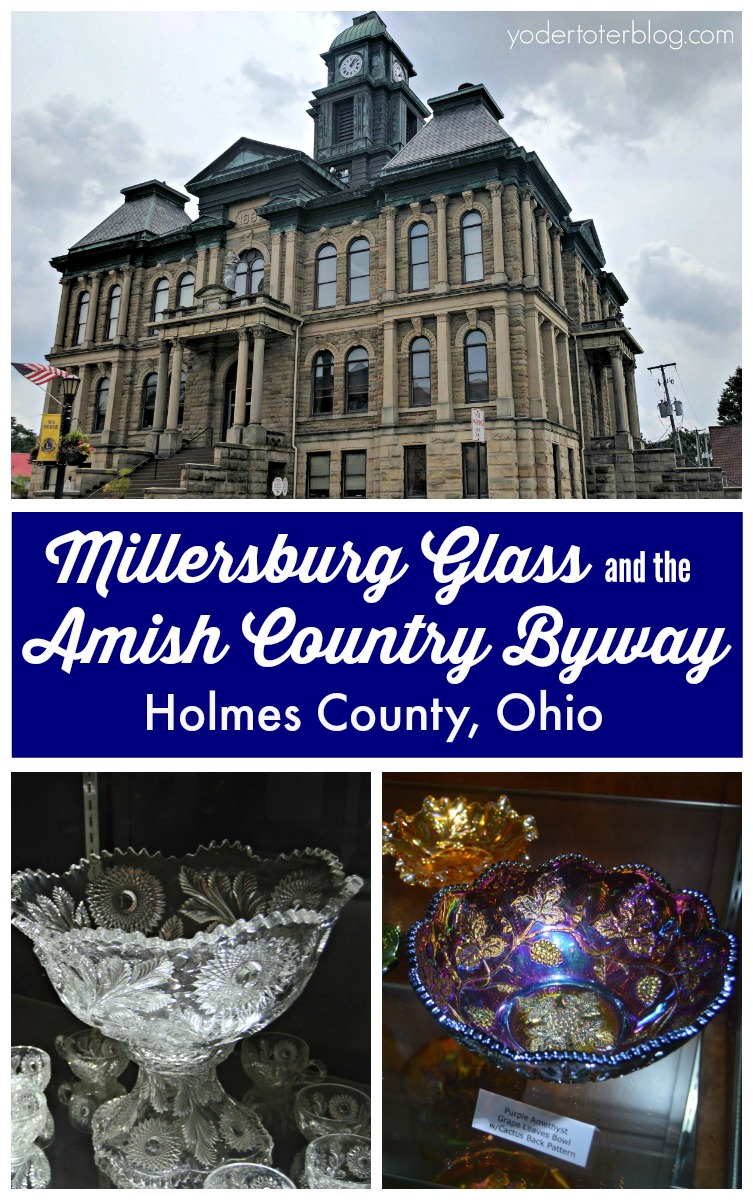 Follow along with me as I share the tale of John Fenton and Millersburg Glass and its location on the Amish Country Byway in Holmes County, Ohio. - Millersburg Glass, Holmes County, Ohio, John Fenton, Millersburg Glass Museum, Amish Country Byway