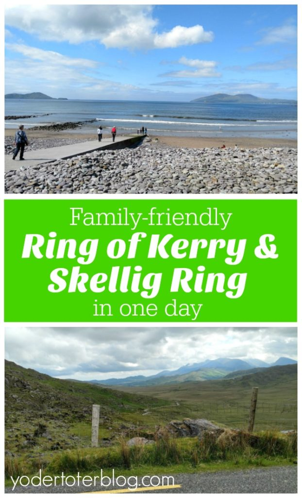 One day itinerary for the Ring of Kerry and Skellig Ring.  This itinerary is family-friendly as we had our three kids along!  Ideas for places to stop and picnic, as well as a map of the route we took.  Don't miss the Ring of Kerry or Skellig Ring while visiting Ireland!  #Ireland #familytravel