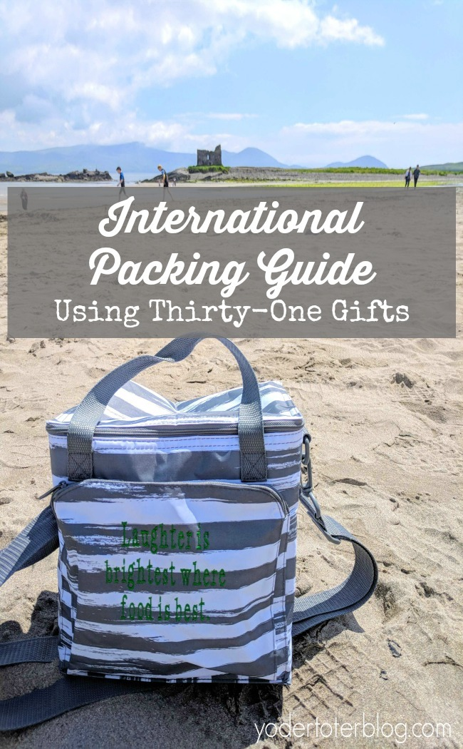 Packing for International Travel with Thirty-One Gifts - What products helped our family of 5 to pack in carry-ons only. Check out the best products for travel. #thirtyone
