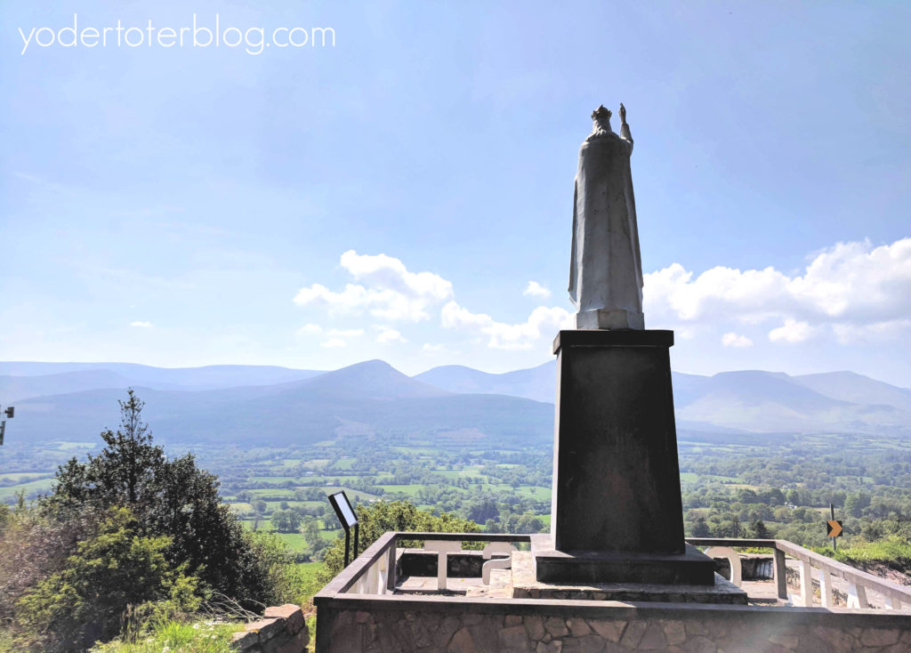 Things to do in Tipperary, Ireland for families. Christ the King statue in the Glen of Aherlow.