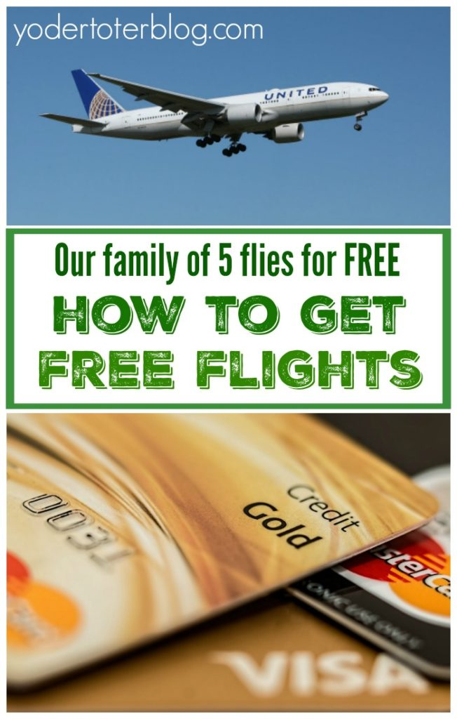 Get free flights for your family by accruing credit card points!  How our family of 5 has flown multiple times by only paying mere pennies in taxes.