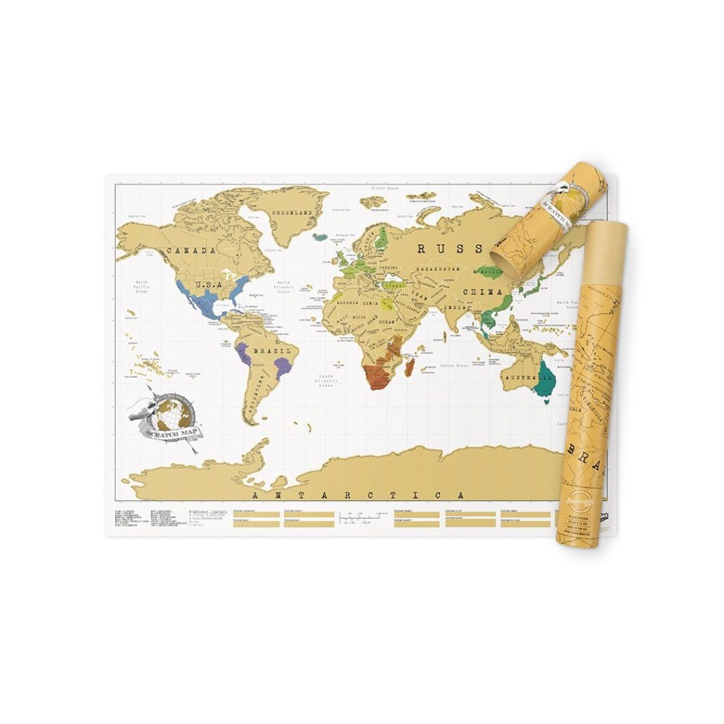 World Map Scratch Map, travel decor, travel inspired decor, Amazon home furnishings, travel quote signs