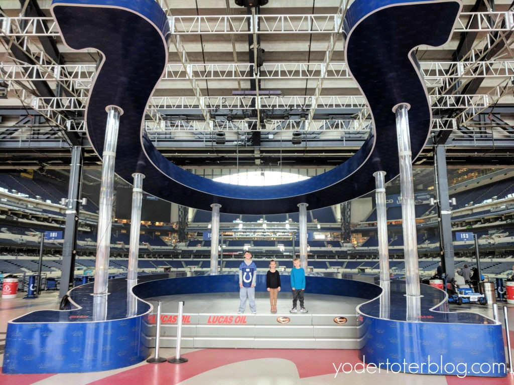 Take a tour of Lucas Oil Stadium, Lucas Oil Stadium tour,  Kid-friendly things to do in Indianapolis, Indy with kids, things to do in Indianapolis