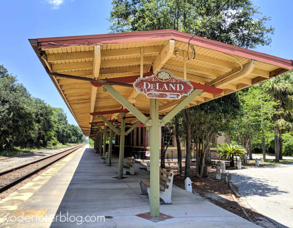 DeLand Train station.  River of Lakes Heritage Corridor.