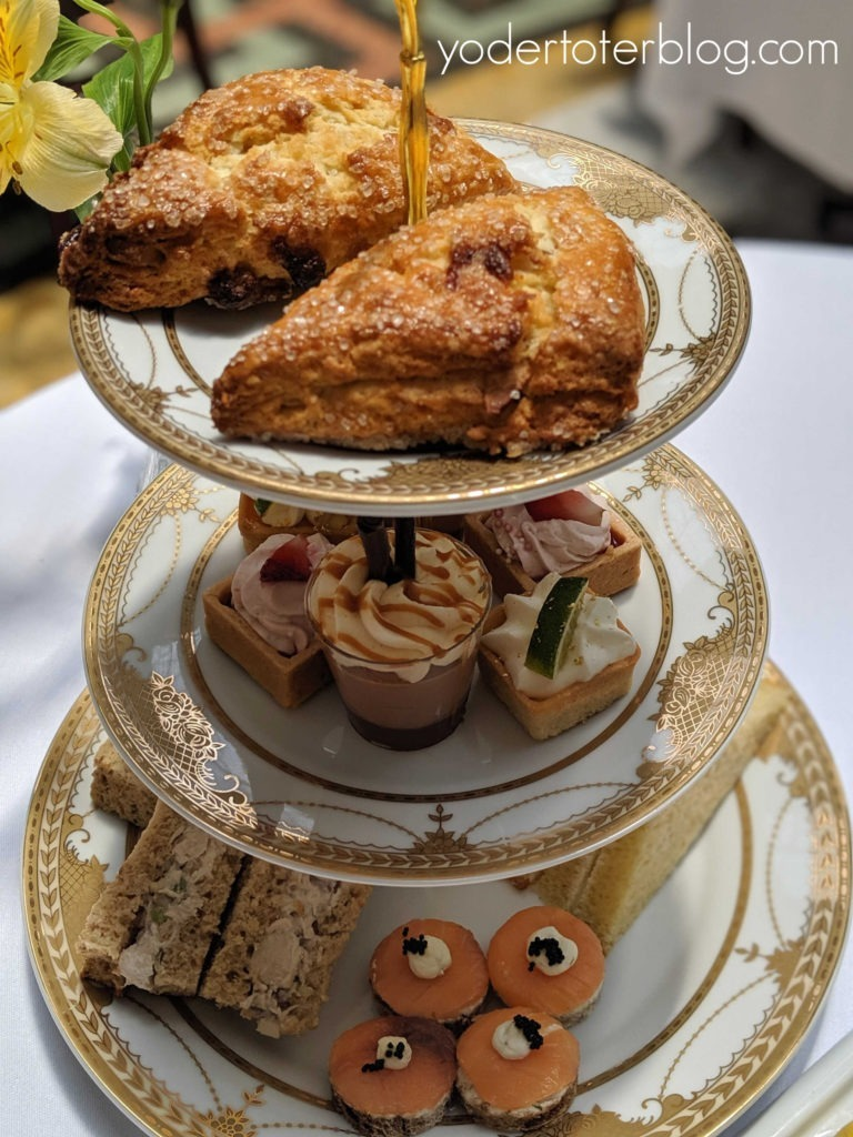 Afternoon Tea choices at West Baden Springs.  French Lick Resort is a romantic resort of the Midwest.  Here are my ideas for having a romantic getaway, or celebrating your Babymoon, at the French Lick Resort!  French Lick Resort, Indiana