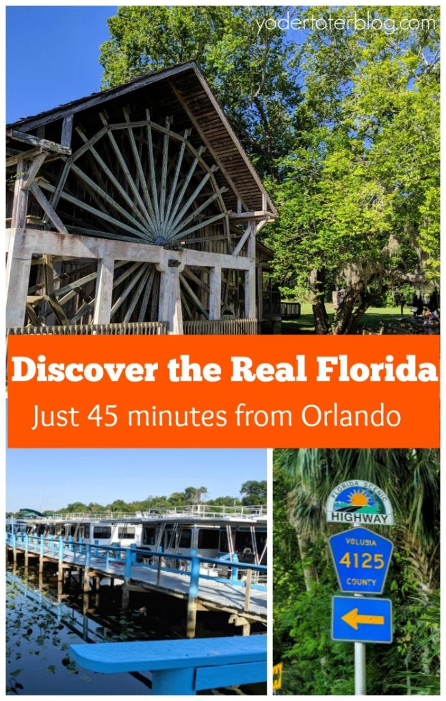 Visit Old Florida on the St. Johns River and River of Lakes Corridor near DeLand, Florida..   This destination is just a quick road trip from Orlando.  Book a Florida houseboat rental and enjoy scenic drives on Florida Byways.