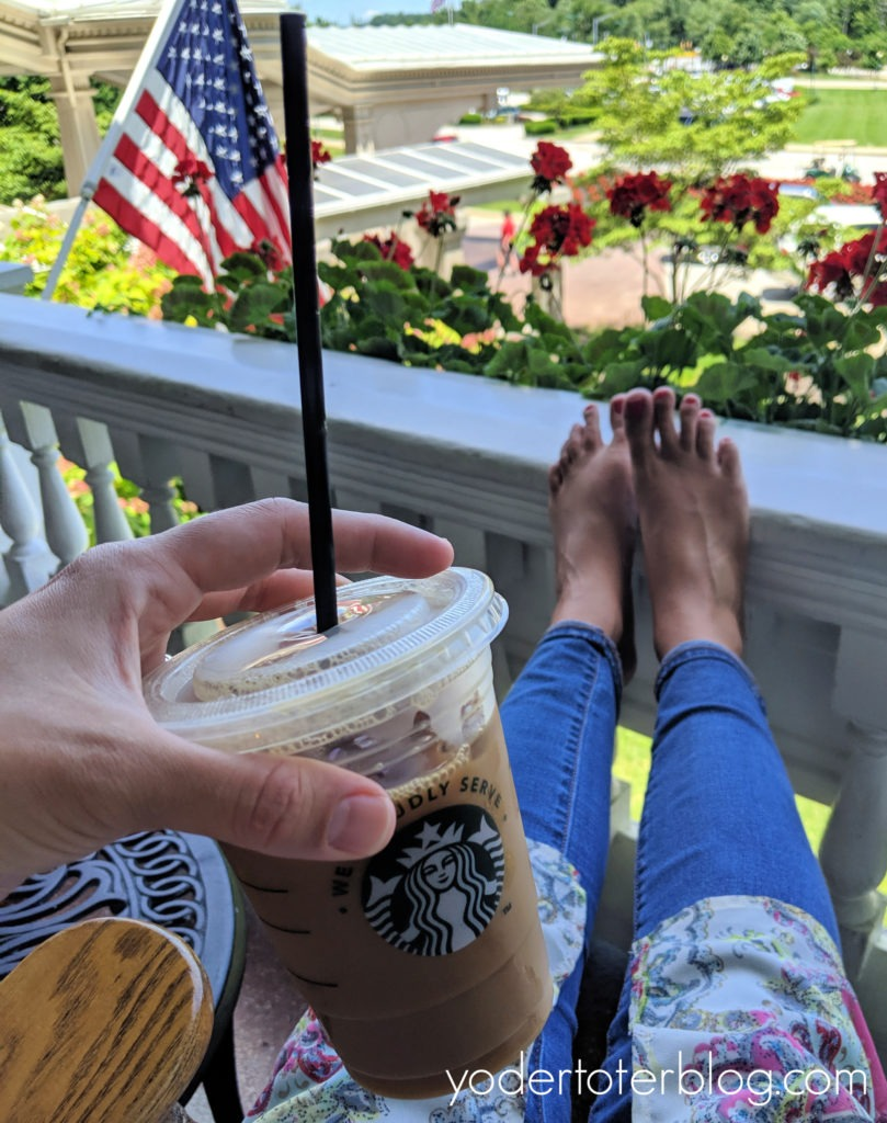 Relaxing on the front porch of French Lick Springs.  French Lick Resort is a romantic resort of the Midwest.  Here are my ideas for having a romantic getaway, or celebrating your Babymoon, at the French Lick Resort!  French Lick Resort, Indiana