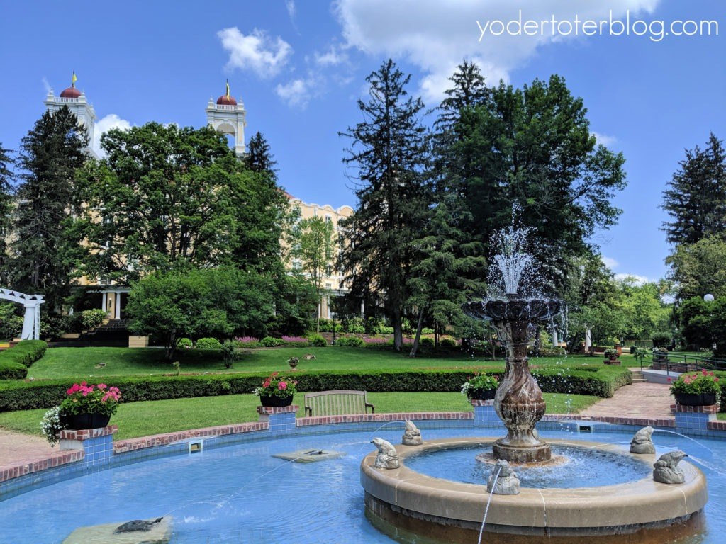 West Baden Springs Hotel Garden.  French Lick Resort is a romantic resort of the Midwest.  Here are my ideas for having a romantic getaway, or celebrating your Babymoon, at the French Lick Resort!  French Lick Resort, Indiana