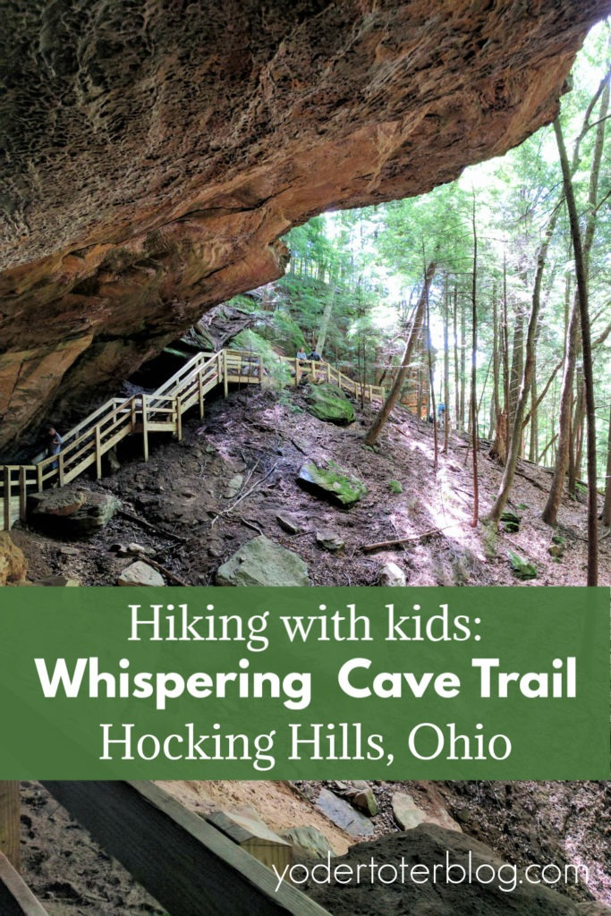 Whispering Cave Trail- Hocking Hills, Ohio.  Things to know for hiking with kids at Whispering Cave.