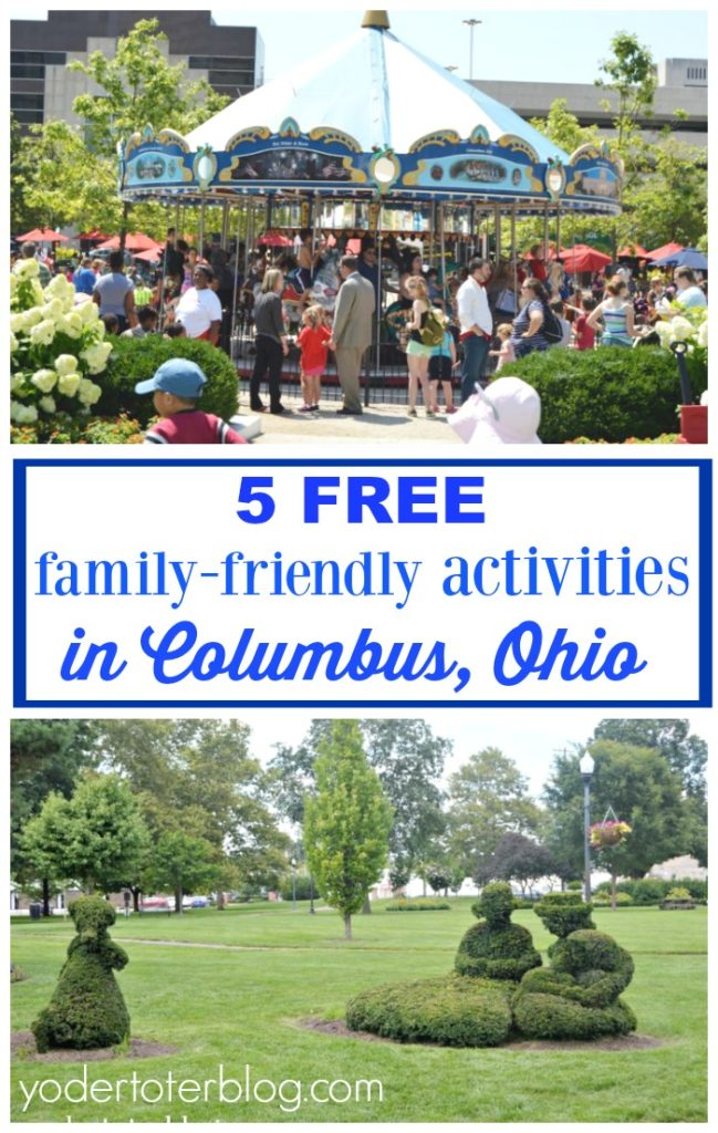 5 Free things to do in Columbus, Ohio with kids. Family-friendly things to do that won't break the bank in the Capital City. Central Ohio things to do.